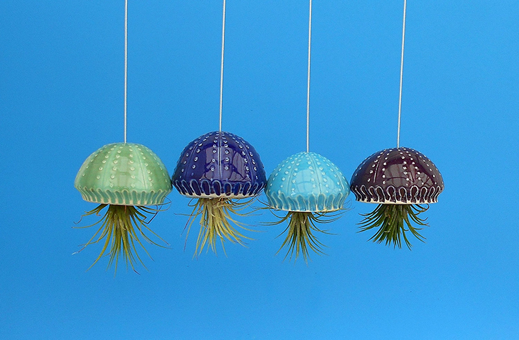 Adorable Ceramic Sea Creature Hanging Planters