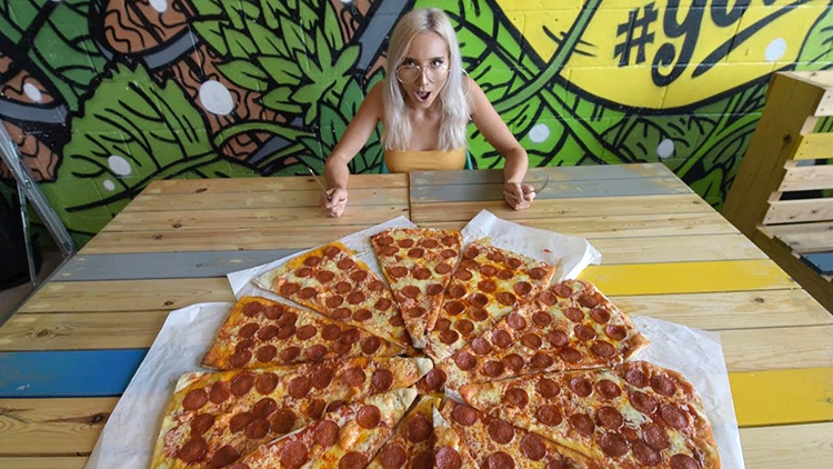 Birmingham Restaurant Features a Giant Pizza Measuring 4 Feet Wide Totaling 11,000 Calories