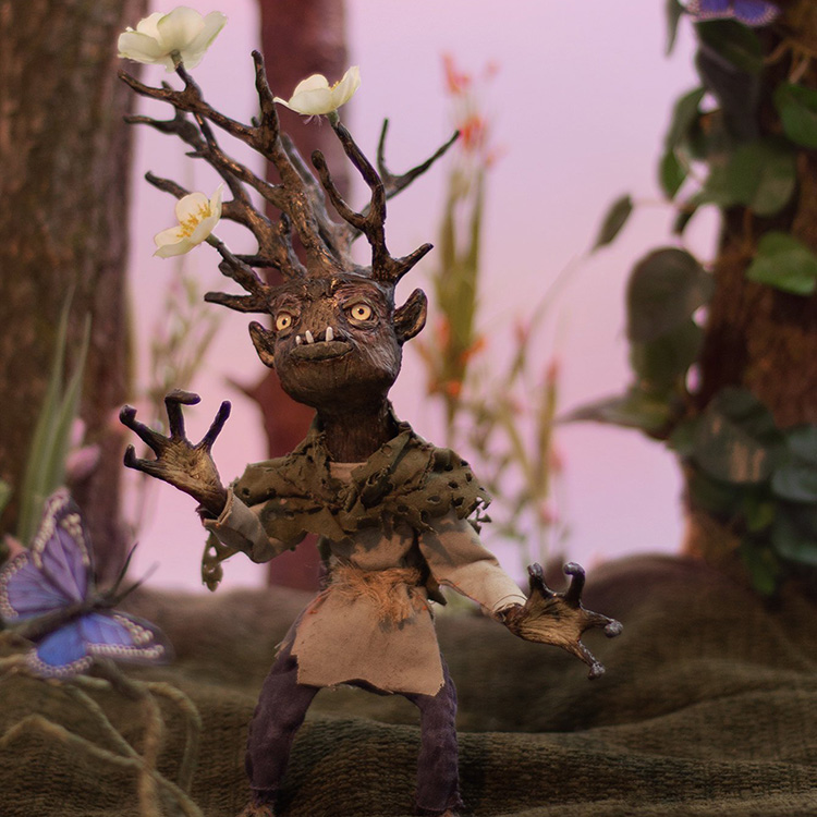 How to Make a Woodland Fantasy Art Doll of a Brambling Using Sculpting Clay, Wire, and Fabric