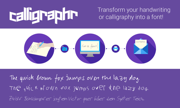 Calligraphr, A Handy App That Converts Physical Handwriting Into a