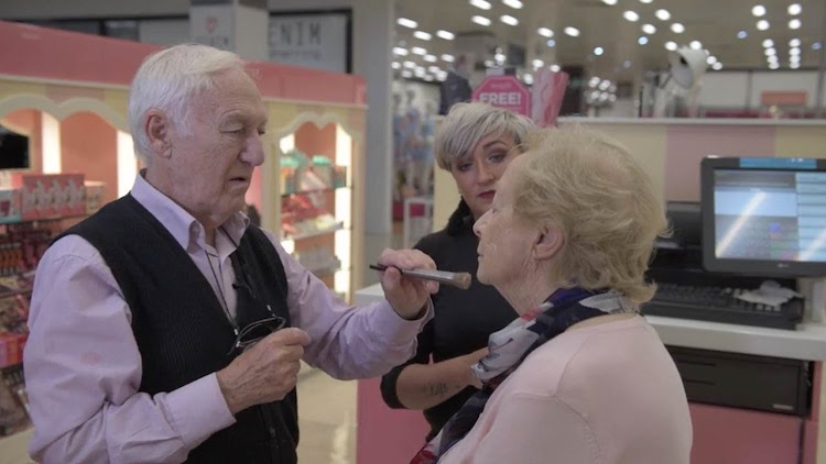 Adoring Husband Learns How to Apply His Wife's Makeup Before She Completely Loses Her Sight