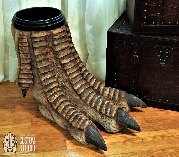 Dinosaur Foot Waste Basket