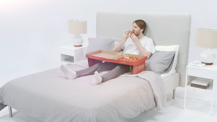 A Pizza Box Designed For Eating Pizza in Bed