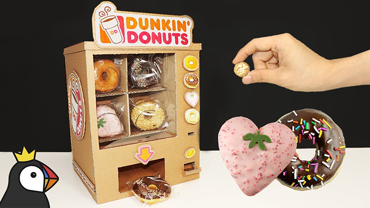 How to Make a Working Dunkin' Donuts Vending Machine Out of Cardboard