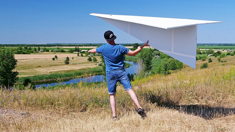 How to Make a Giant 122 Inch Flying Paper Airplane