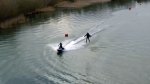Inventor Takes His Jet Suit Out for an Exciting Speed and Agility Test Over a Lake