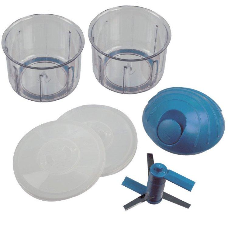 Kuhn Rikon 4 Cup Pull Chop Blue