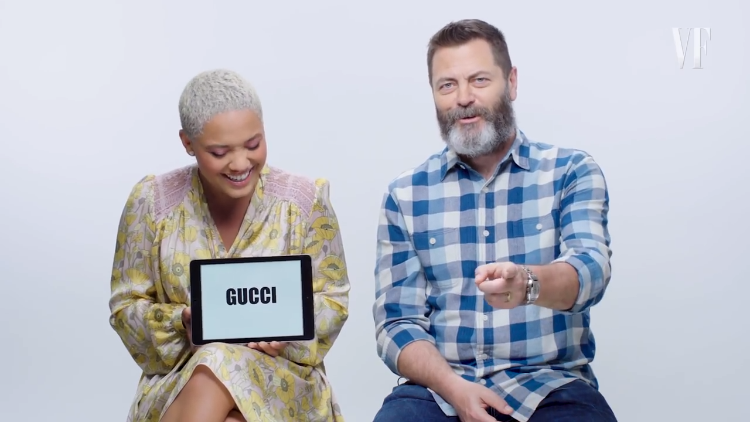 Nick Offerman and Kiersey Clemons Give a Lesson on Millennial Slang