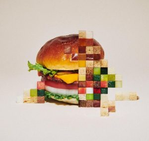 Pixelated Burger