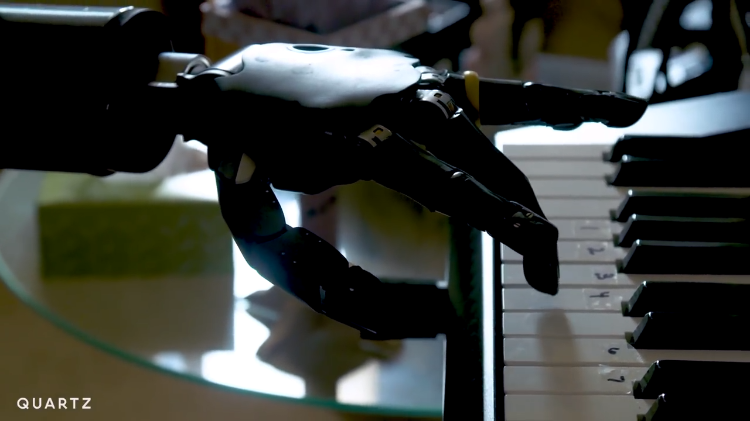 Man With an Advanced Thought-Controlled Robotic Arm Learns How to Play the Piano