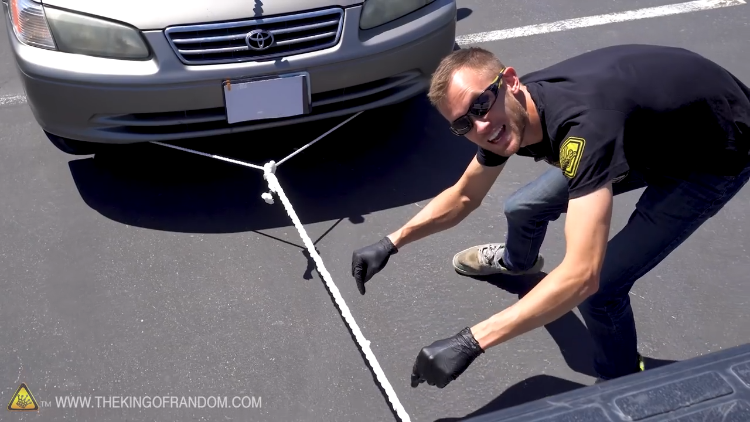 Pulling a Car With a Rope Made of Paper Towels