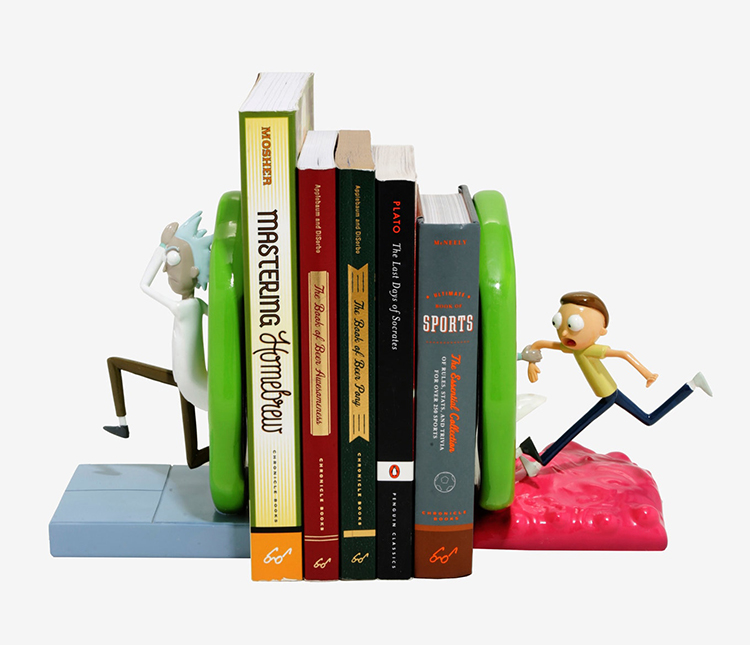 Rick and Morty Portal Bookends