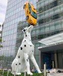 Spot! Dalmatian Balancing Taxi