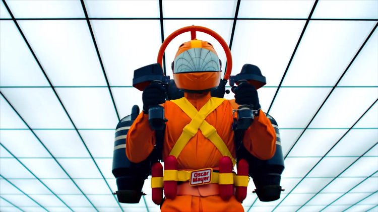 Oscar Mayer Adds an Incredible Fully Functional Jet Pack to Their Updated Fleet of Weiner Vehicles