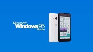 Windows 95 Running on a Microsoft-Branded Smartphone