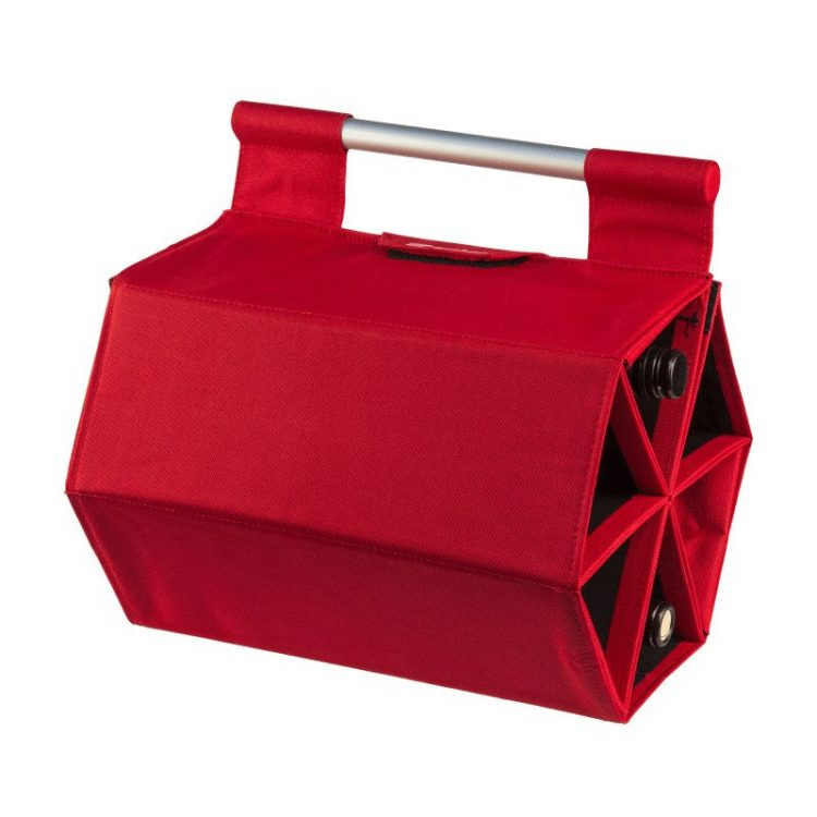 A Super Portable, Accordion Style Carrying Case and Wall Rack That Holds Up To Six Bottles of Wine