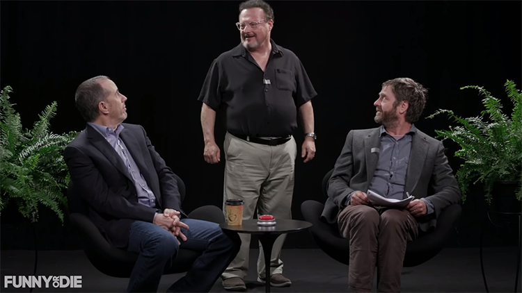 Zach Galifianakis Hilariously Roasts Jerry Seinfeld While Praising Cardi B on Between Two Ferns