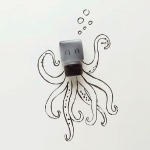 illustrations using found objects