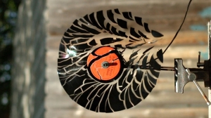 Spinning a Vinyl Record so Fast That It Shatters in Super Slow Motion
