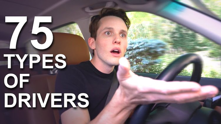 An Amusing Enactment of 75 Distinctly Different Driving Personalities Commonly Found on the Road