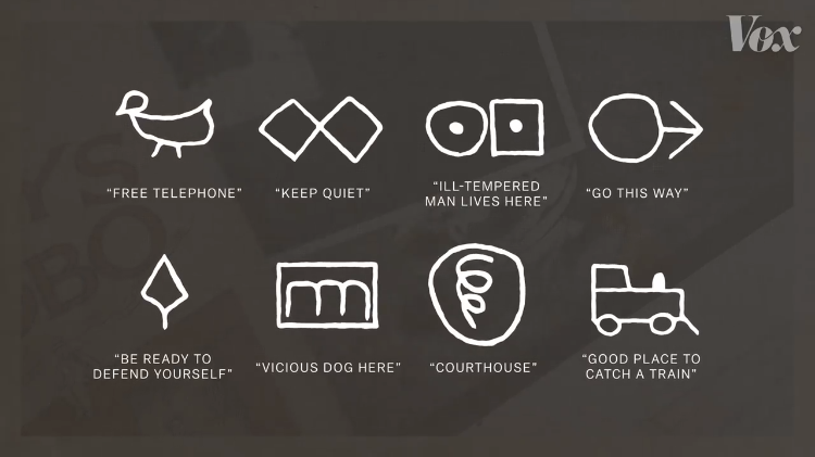 A Fascinating Brief History of the Coded Graphic Language Symbols That Made Up Hobo Graffiti