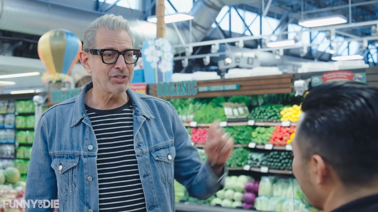 Jeff Goldblum Breaks Out Into Song While Buying Groceries for a Meal With Bryce Dallas Howard