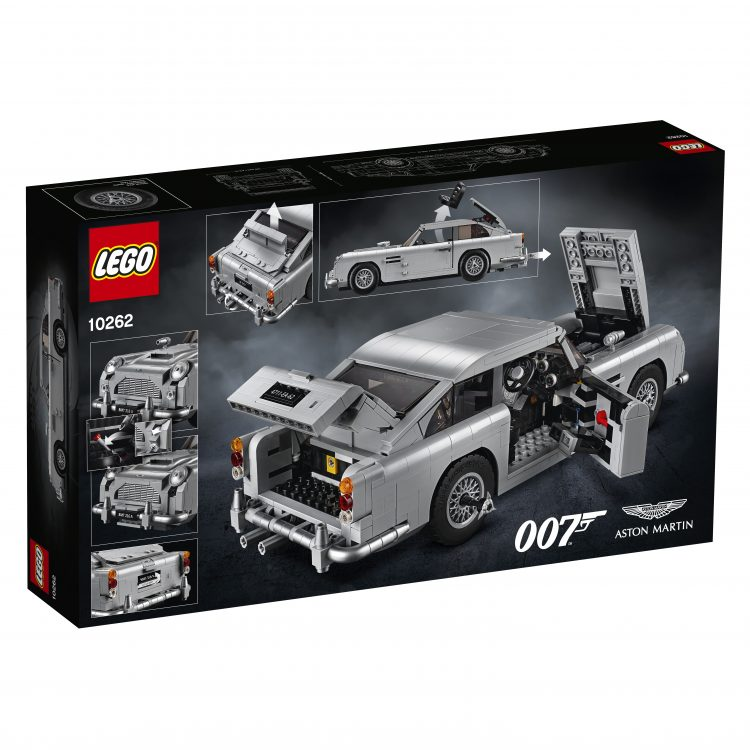 LEGO Unveils Their James Bond 'Goldfinger' Aston Martin DB5 Featuring a Working Ejector Seat