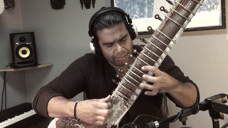 Talented Sitar Player Performs Beautiful Cover Versions of Popular and Classic Rock Songs