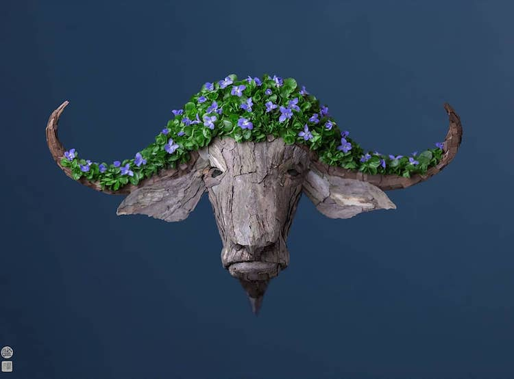 Beautiful Animal and Insect Sculptures Created From Natural Colorful Flora