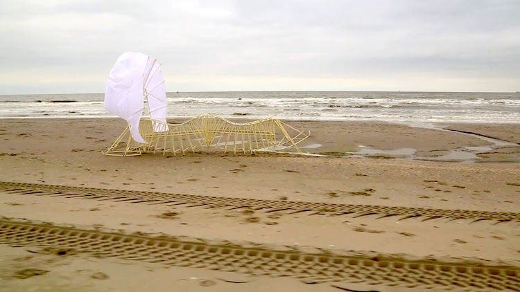 Theo Jansen Debuts His Newly Slimmed Down Wind Powered Walking Strandbeest For 2018