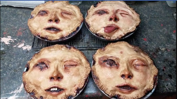 Fabulously Disconcerting Anthropomorphic Human Faces Baked Into Top Crusts of Handmade Pot Pies