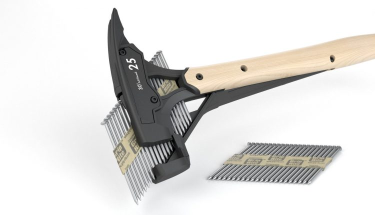 Hammer With Collated Nail Dispenser Head