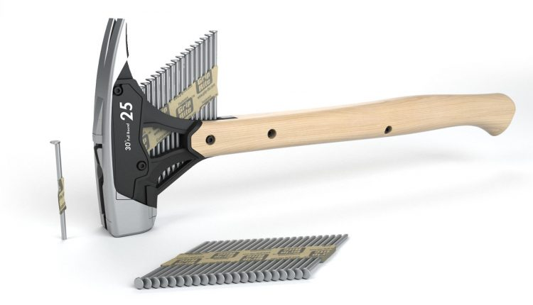 Hammer With Collated Nail Dispenser