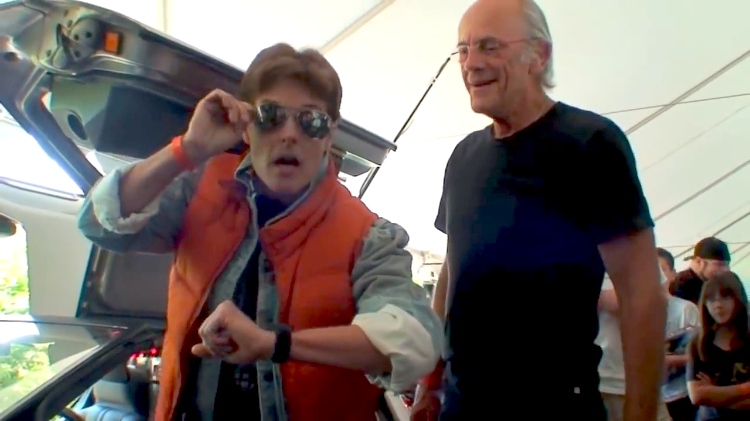 Marty McFly Impersonator Christopher Lloyd