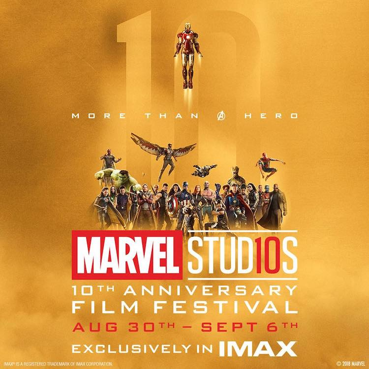 Marvel Studios Is Celebrating Their 10th Anniversary by Screening All 20 MCU Films in IMAX Theaters