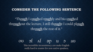 Phonetic Consistency in English