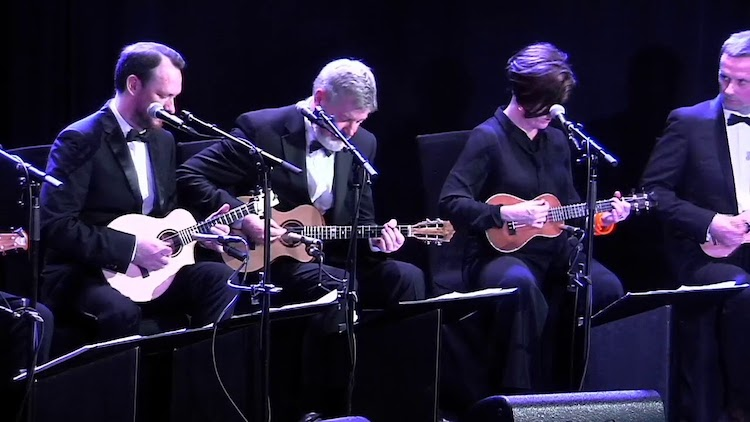 The Ukulele Orchestra of Great Britain Performs an Incredible Cover of David Bowie's 'Heroes' in NYC