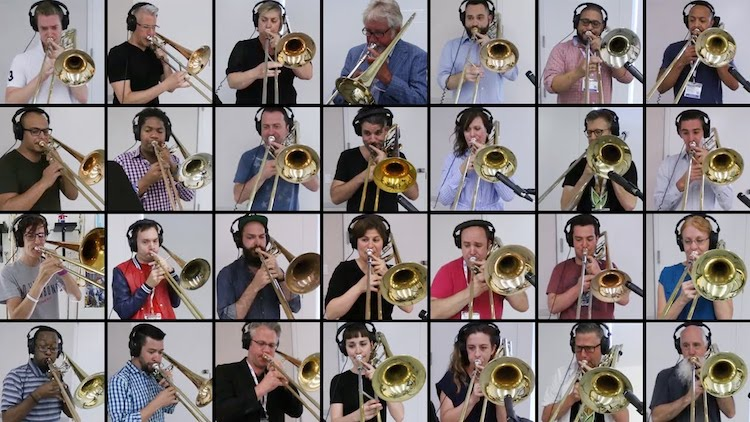 An Amazing Cover of the Iconic Queen Anthem 'Bohemian Rhapsody' Performed by 28 Trombones