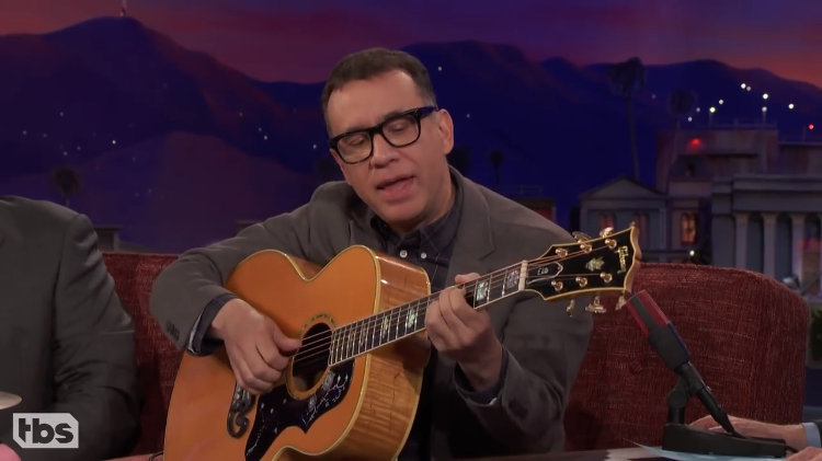 Comedian Fred Armisen Demonstrates the Funny Things Musicians Do With Their Instruments