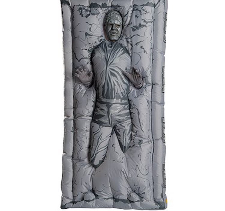 An Inflatable 'Han Solo Frozen in Carbonite' Costume