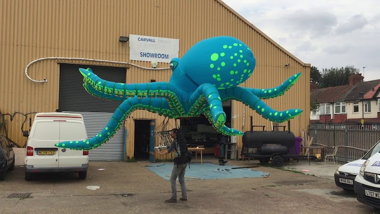 A Giant Inflatable Octopus Puppet Named Ocho