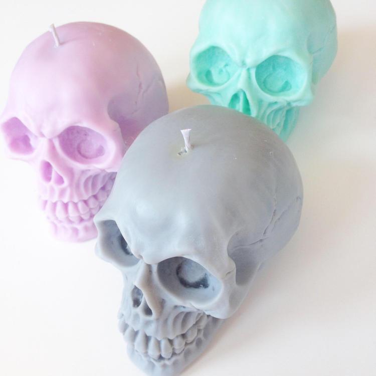 Pastel Skull Trio