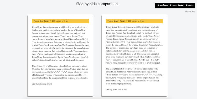 Side Comparison