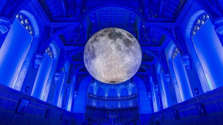 The Museum of the Moon, A Beautifully Ethereal Lighted Sculpture of the Earth's Moon in Miniature