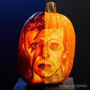 David Bowie Aladdin Sane Pumpkin