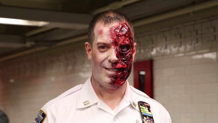 MTA Partners With NYPD Transit to Give NYC Subway Riders an Elaborate Haunted Halloween Experience