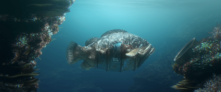 Hybrids, A Powerful Animation About Marine Life Incorporating Ocean Pollution Into Their Bodies
