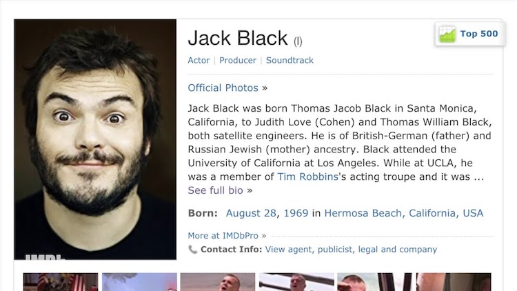 An Uncensored Jack Black Hilariously Explains Everything That's Listed on His Own IMDB Page