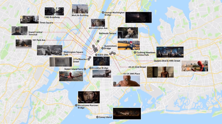 A Lively Video Map of New York City Showing Exactly Where Each Marvel Cinematic Universe Event Occurred