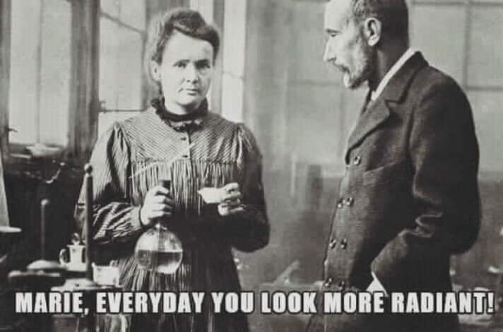 Marie Curie Is Looking Radiant